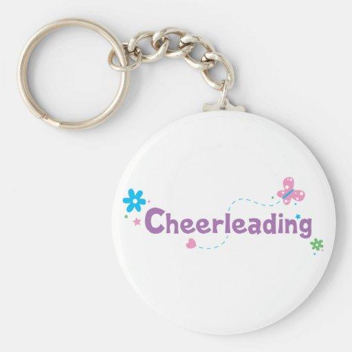 Garden Flutter Cheerleading Key Chain