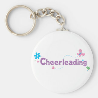 Garden Flutter Cheerleading Keychain