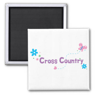 Garden Flutter Cross Country 2 Inch Square Magnet
