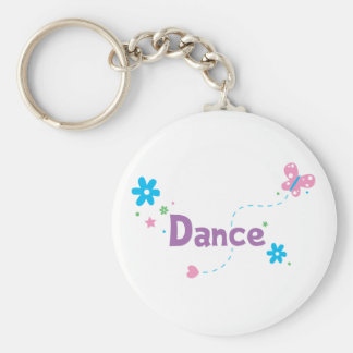 Garden Flutter Dance Basic Round Button Keychain
