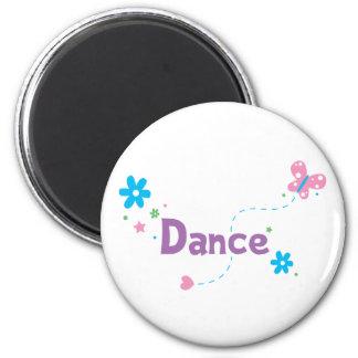 Garden Flutter Dance 2 Inch Round Magnet