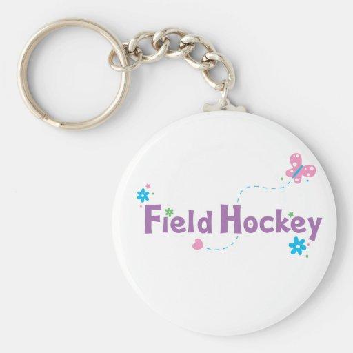 Garden Flutter Field Hockey Keychains
