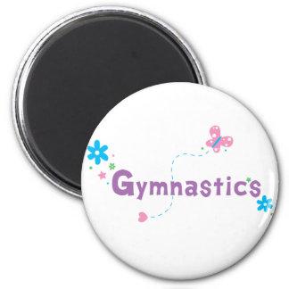 Garden Flutter Gymnastics 2 Inch Round Magnet