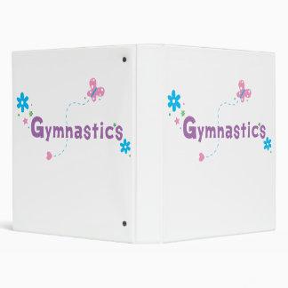 Garden Flutter Gymnastics 3 Ring Binder
