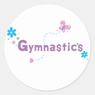 Garden Flutter Gymnastics Classic Round Sticker