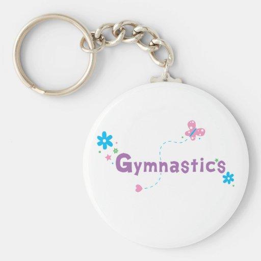 Garden Flutter Gymnastics Keychain