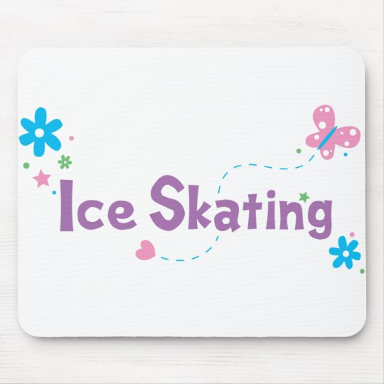Garden Flutter Ice Skating Mouse Pad