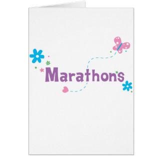 Garden Flutter Marathons Greeting Card
