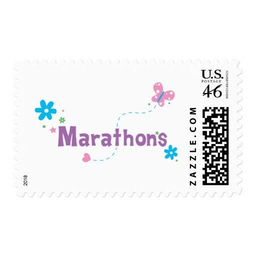 Garden Flutter Marathons Postage