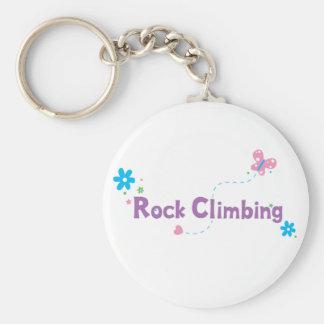 Garden Flutter Rock Climbing Basic Round Button Keychain