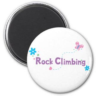 Garden Flutter Rock Climbing 2 Inch Round Magnet