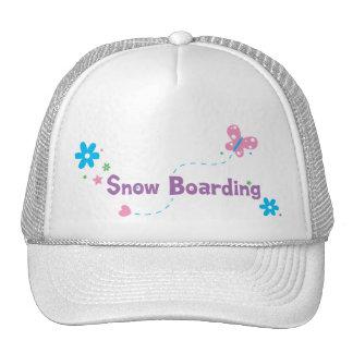 Garden Flutter Snow Boarding Trucker Hat