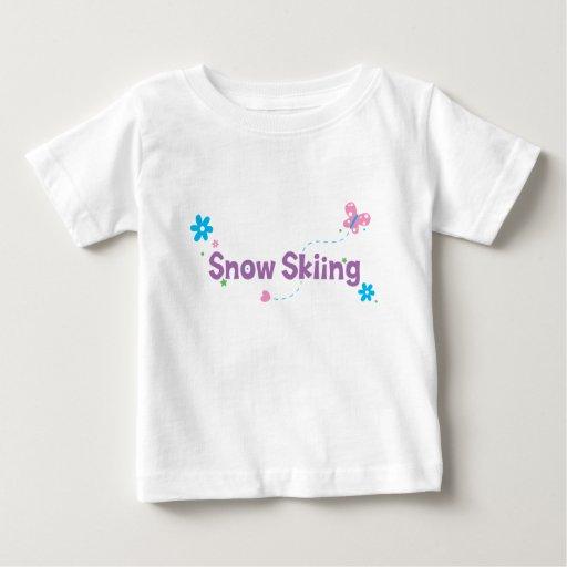 Garden Flutter Snow Skiing Infant T-shirt