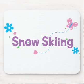 Garden Flutter Snow Skiing Mouse Pad