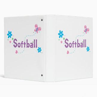 Garden Flutter Softball Binder
