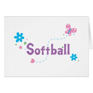 Garden Flutter Softball Card