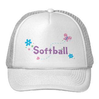 Garden Flutter Softball Hats