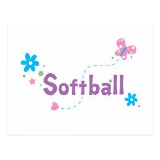 Garden Flutter Softball Postcard