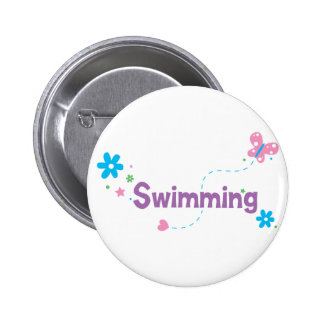 Garden Flutter Swimming Pinback Buttons
