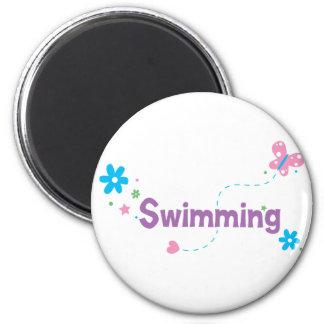 Garden Flutter Swimming 2 Inch Round Magnet