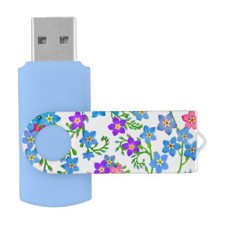 Garden Forget Me Nots 16Gb Flash Drive