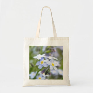 Garden Forget Me Nots Budget Tote Bag