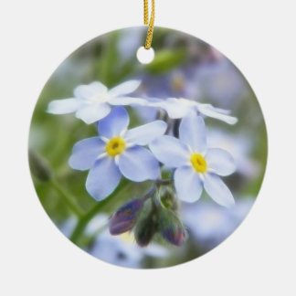 Garden Forget Me Nots Christmas Ornaments