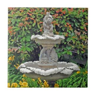 """""""Garden Fountain"""" Ceramic Tile"""