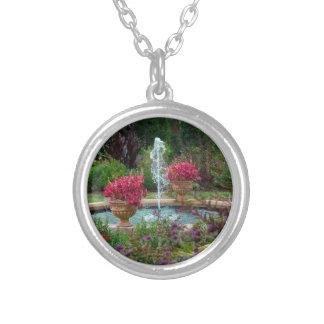 Garden Fountain Silver Plated Necklace