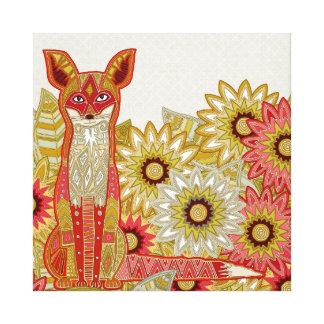 garden fox gallery wrapped canvas