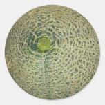 Garden Fresh Cantaloupe Round Stickers