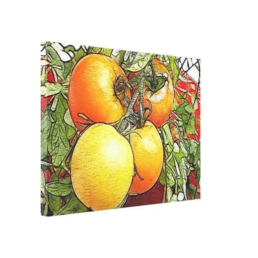 Garden Fresh Heirloom Tomatoes Canvas Prints