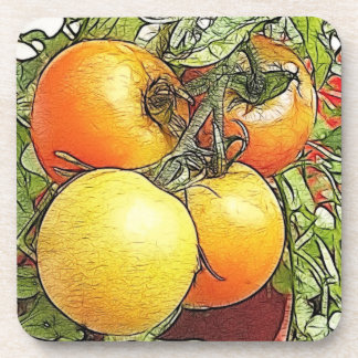Garden Fresh Heirloom Tomatoes Coaster