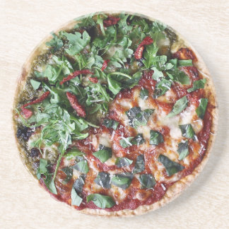 Garden Fresh Pizza Sandstone Drink Coaster
