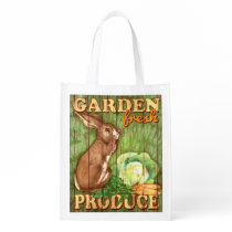 Garden Fresh Produce, bunny, grocery bag