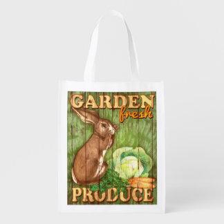 Garden Fresh Produce, bunny, grocery bag