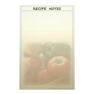 garden fresh recipe stationery
