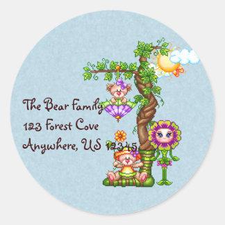 Garden Friends Pixel Art Classic Round Sticker