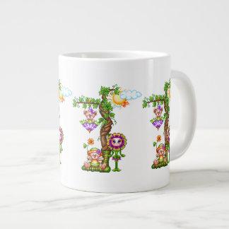 Garden Friends Pixel Art Giant Coffee Mug