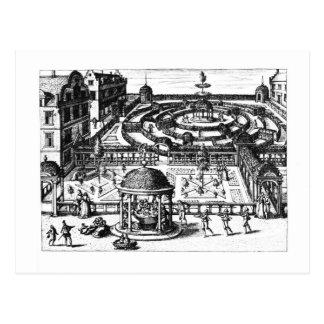 Garden, from 'Hortum Viridariorumque Elegantes et Postcard