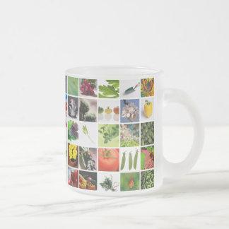 Garden Frosted Glass Coffee Mug