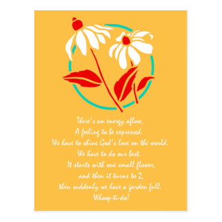 Garden Full of Love Poem Postcard