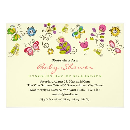garden fun baby shower invitation zazzle