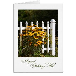 Garden Gate Birthday Card