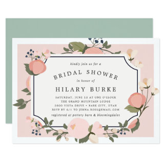 Garden Gate Bridal Shower Invitation | Blush
