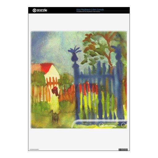 Garden gate by August Macke PS3 Slim Decal