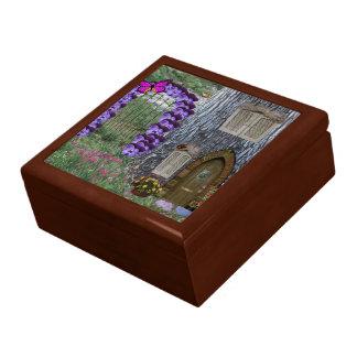 Garden Gate Fairy Cottage Jewelry Box