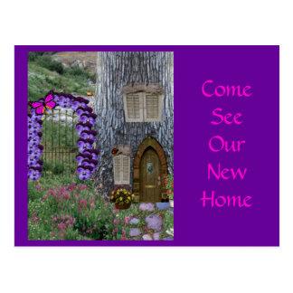 Garden Gate Fairy Cottage Postcard
