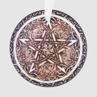 Garden Gate Pentacle Ornament with Ribbon