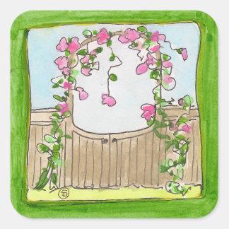 garden gate sticker